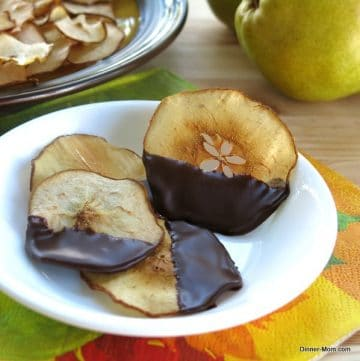 Chocolate Dipped Pear Chips