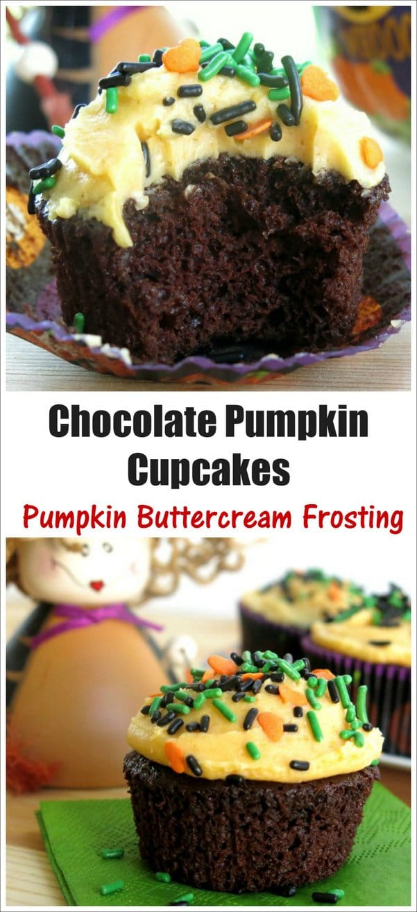 Easy Chocolate Pumpkin Cupcakes Recipe