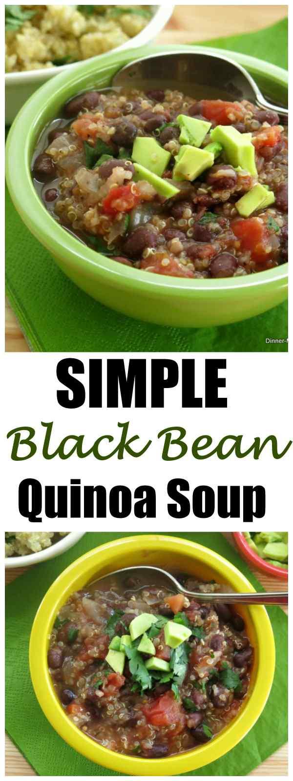 Simple Vegan Black Bean Quinoa Soup Recipe