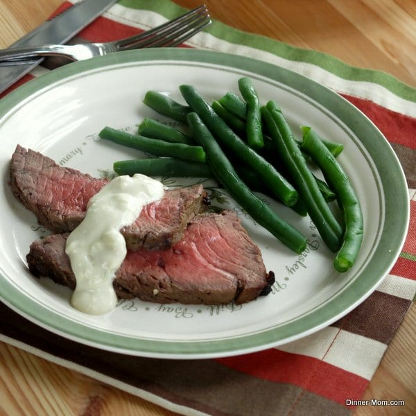 Blue Cheese Sauce on London Broil