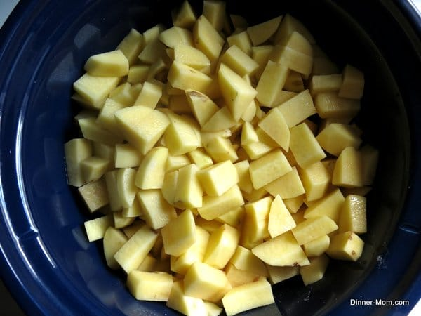 Diced Potatoes in the Crock Pot