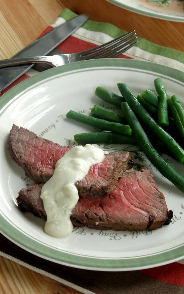 Blue Cheese Sauce and Zesty London Broil Recipe