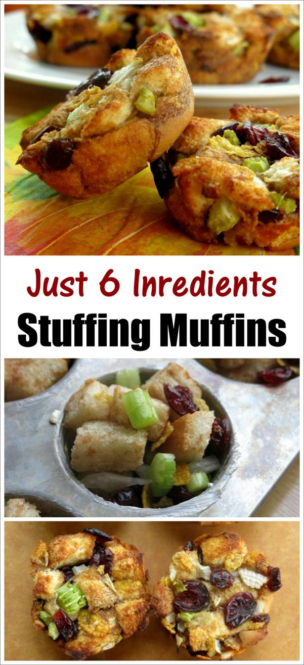 Stuffing Muffin Recipe - Just 6 Ingredients