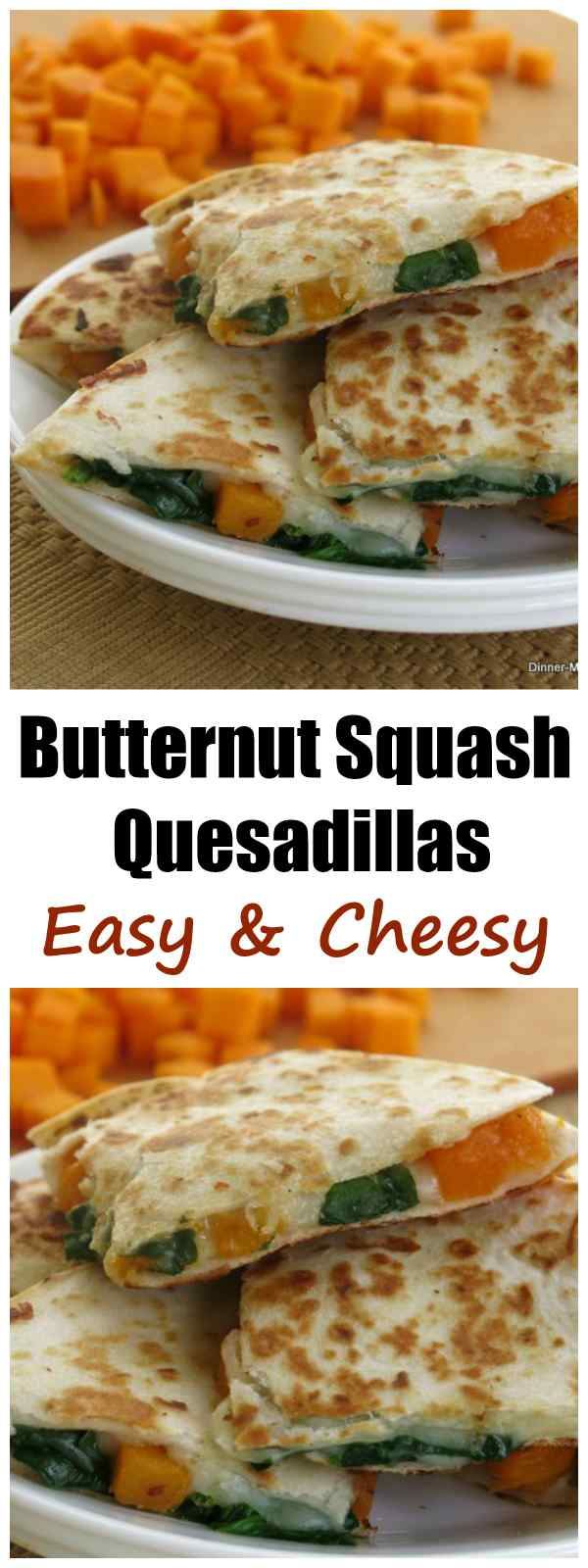 Butternut Squash and Spinach Quesadillas Recipe