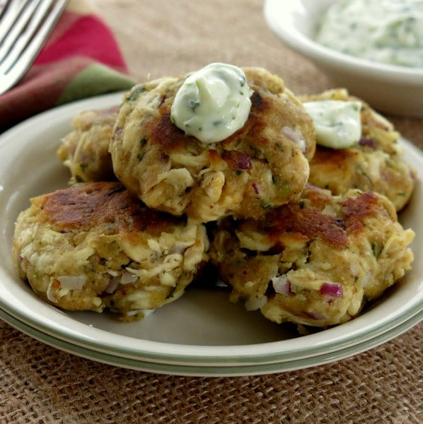 Chicken Cakes with Cilantro Lime Mayonnaise