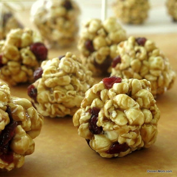 ranberry Apple Caramel Popcorn Balls
