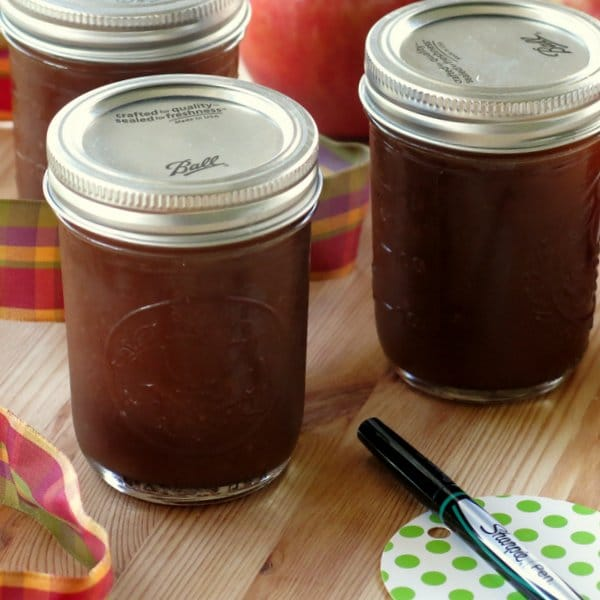 Crock Pot Apple Butter that is Lower in Sugar - The Dinner-Mom