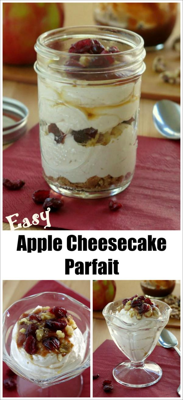 Easy Caramel Apple Cheescake Parfait Recipe