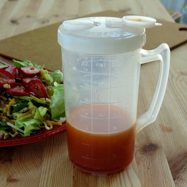Red Wine Vinegar Dressing in container