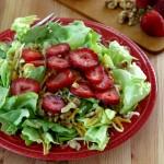 Red Wine Vinaigrettte Dressing over Salad Greens