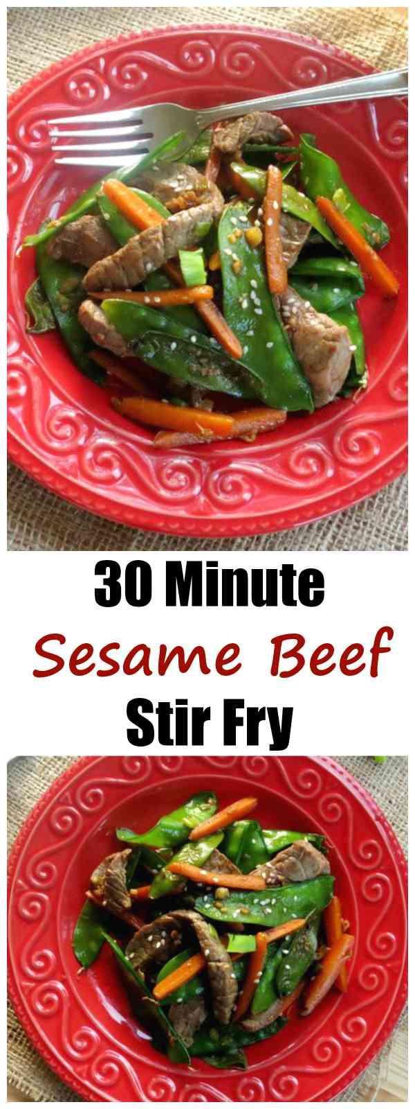 Sesame Beef Stir Fry with Sesame Oil