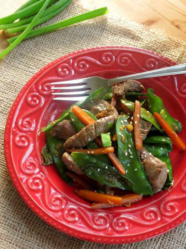 Sesame Beef Stir Fry Recipe with Ginger Soy Sauce