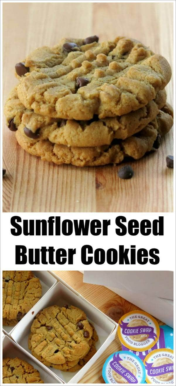Sunflower Seed Butter Cookies With Chocolate Chips The