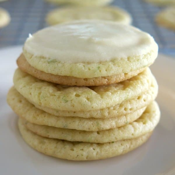 Key Lime Cookies with Key Lime Frosting