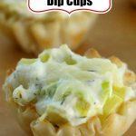 Crab Artichoke Dip Cups