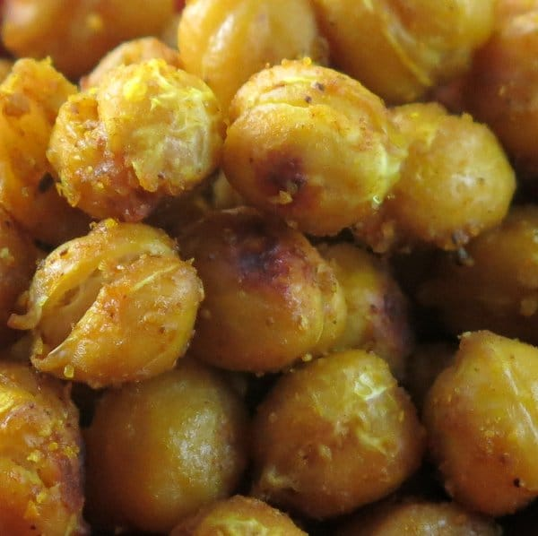 Crispy Curried Chick Peas
