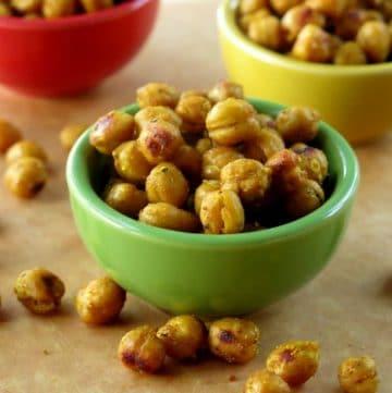 Crispy Curried Chick Peas