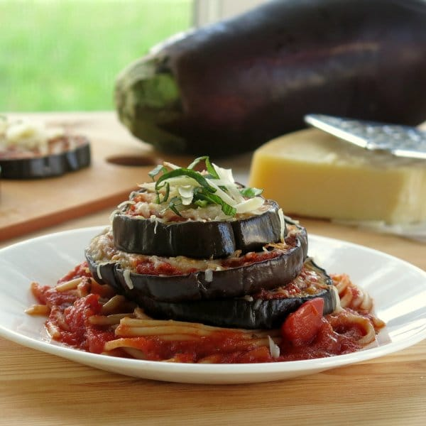 Easy Eggplant Parmesan Stacks