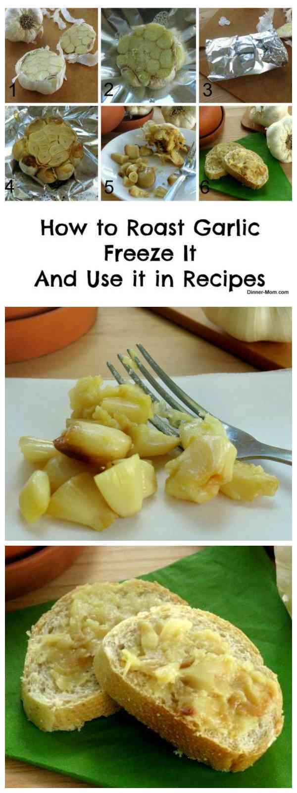 How to Roast Garlic Cloves, Freeze and Use in Recipes