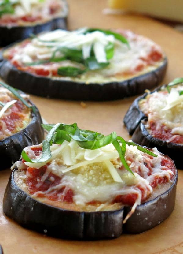 Easy Eggplant Parmesan Stacks