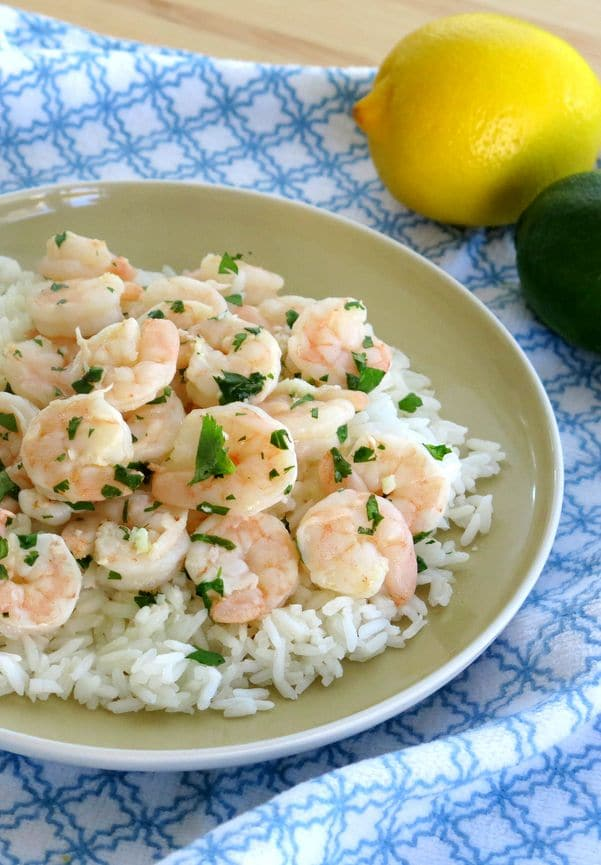 Easy Garlic Shrimp in a Citrus Butter Sauce