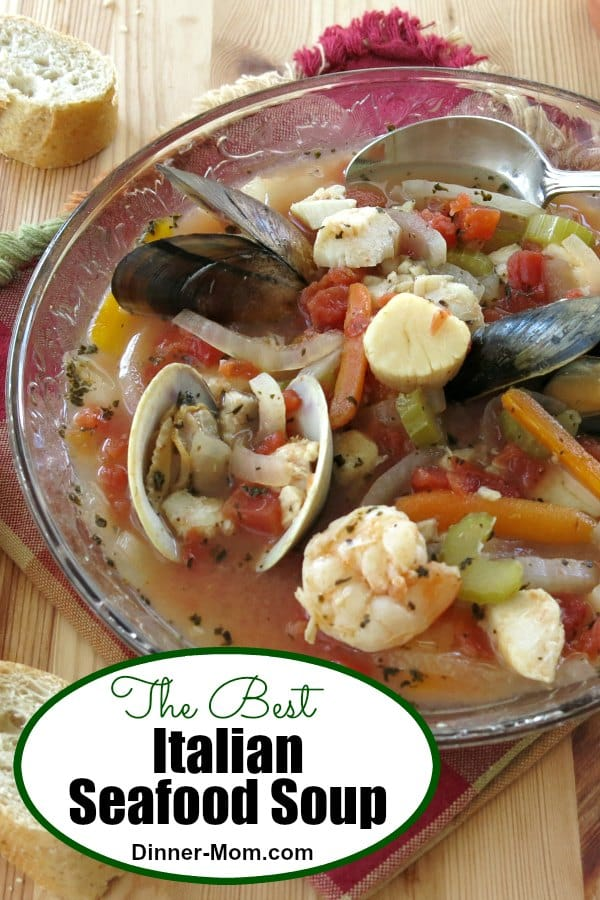 The Best Italian Seafood Soup Recipe is healthy, takes one pot and is low-carb and gluten-free. Perfect for Christmas Eve dinner, a beach weekend or any time if you are a seafood lover! #seafoodsoup #healthyrecipes
