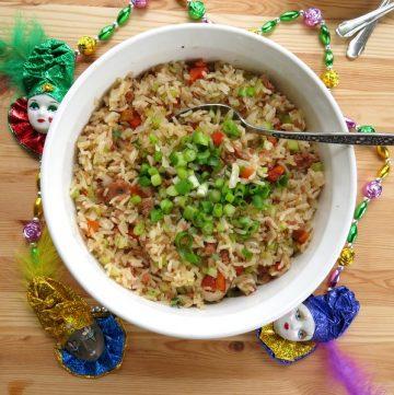 Easy Cajun Dirty Rice Bowls