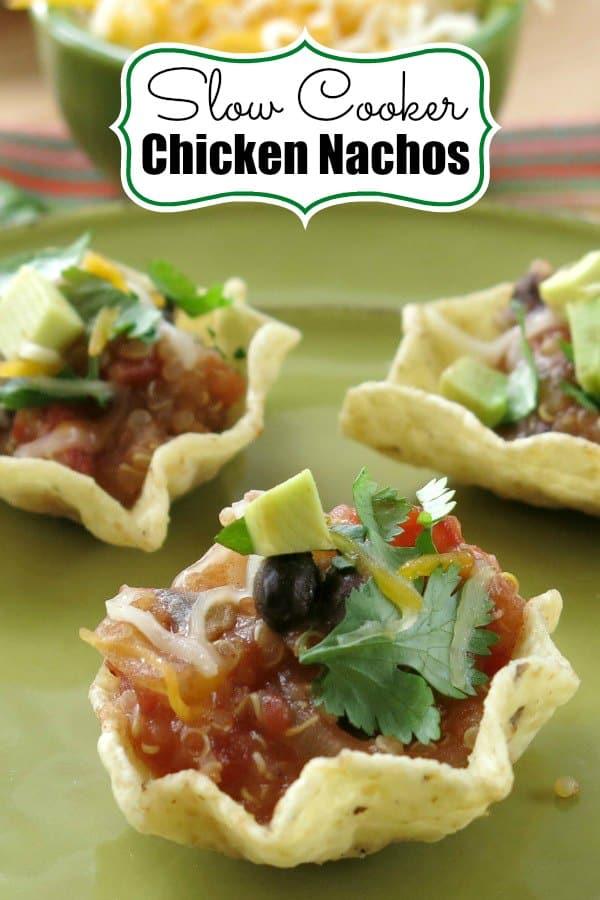 Slow Cooker Chicken Nachos Pin