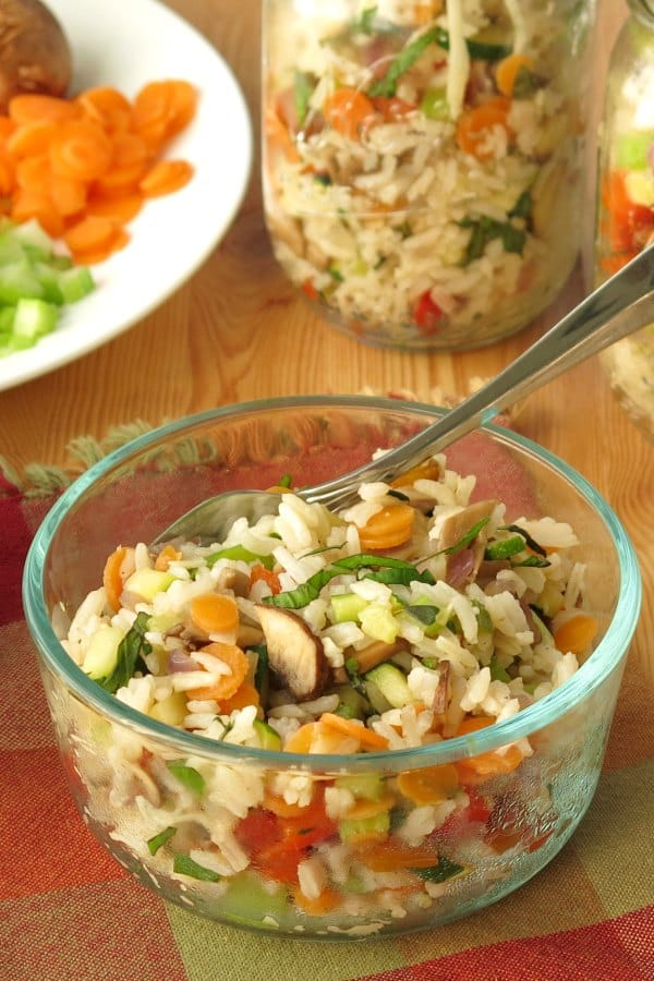 Easy Vegetarian Rice Pilaf in bowl