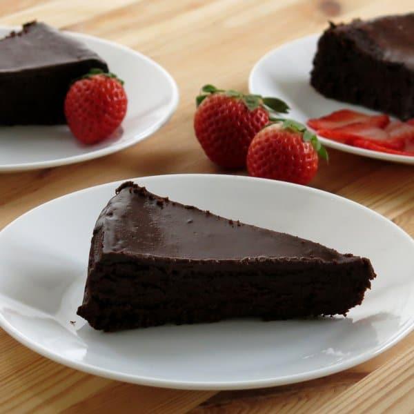 Flourless Chocolate Cake Raspberry Ganache