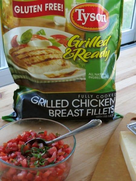 Gluten-Free Chicken Bruschetta #AD