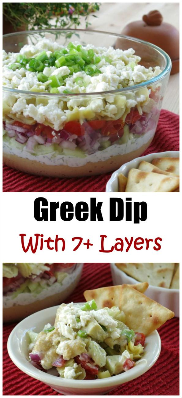 Greek Dip with 7 Plus Layers