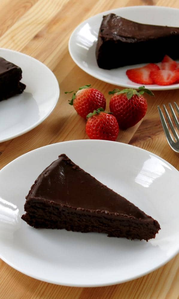 Flourless Chocolate Cake with Ganache recipe