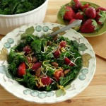 Massaged Kale Salad with Strawberries and Almonds