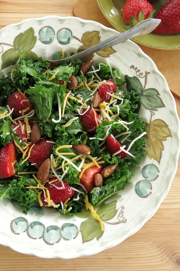 Massaged Kale Salad Recipe in a bowl