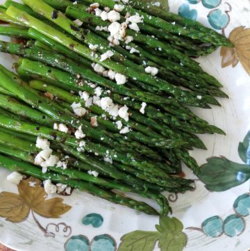 Roasted Asparagus with Balsamic Reduction and Feta