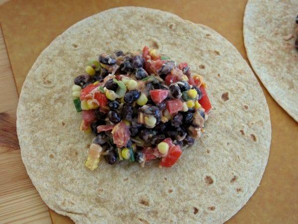 Spicy Black Bean Wraps