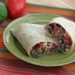 Spicy Black Bean Wraps for #WeekdaySupper