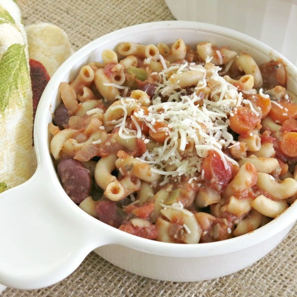 Vegetarian Pasta Fagioli in a bowl