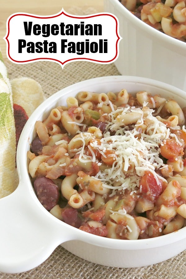 Vegetarian Pasta Fagioli Recipe