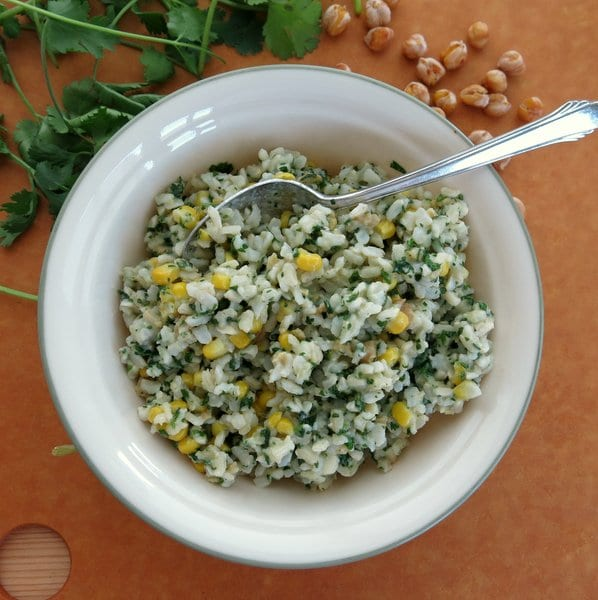 Brown Rice with Cilantro Pesto