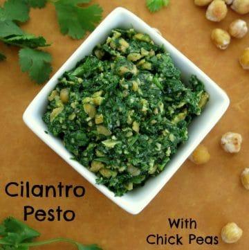 Cilantro Pesto With Chick Peas