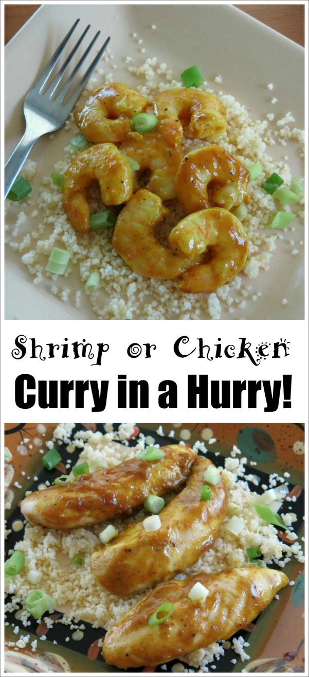 Curry in a Hurry Recipe for Shrimp or Chicken