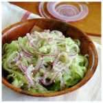 Spiralized Cucumber Onion Salad