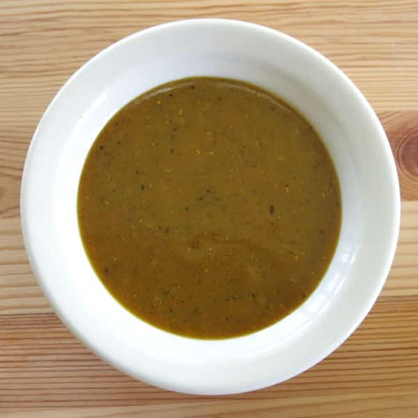 Easy curry sauce in a bowl