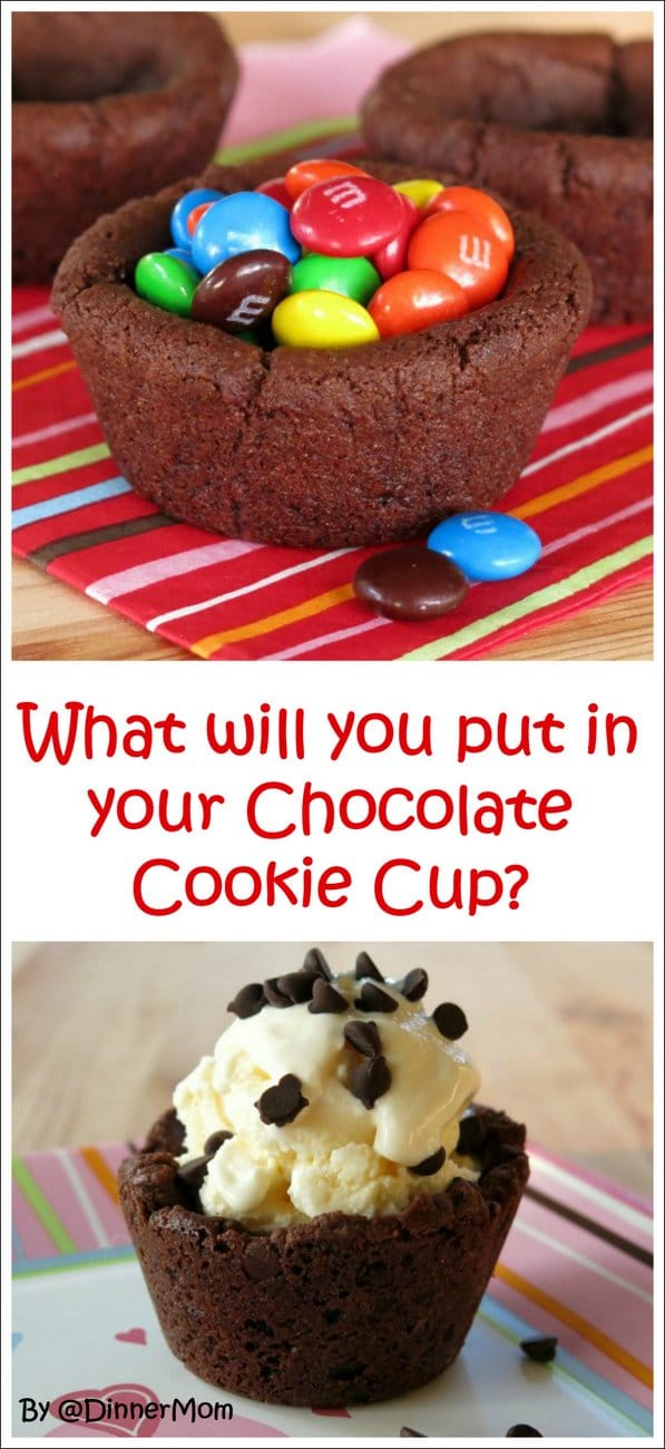 Chocolate Chip Cookie Cup - Fill this desert cup with ice cream, milk, candy, you name it!