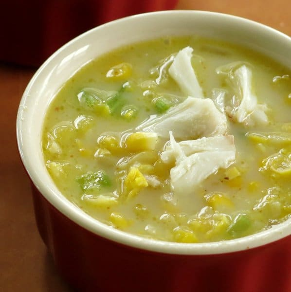 Corn and Crab Chowder in a bowl