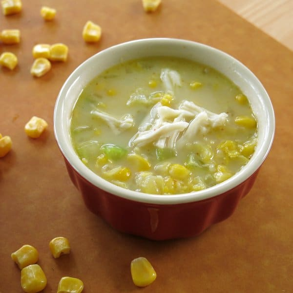 Crab and Corn Chowder in bowl