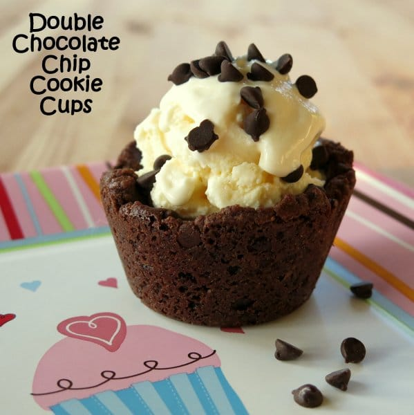 Double Chocolate Chip Cookie Cups