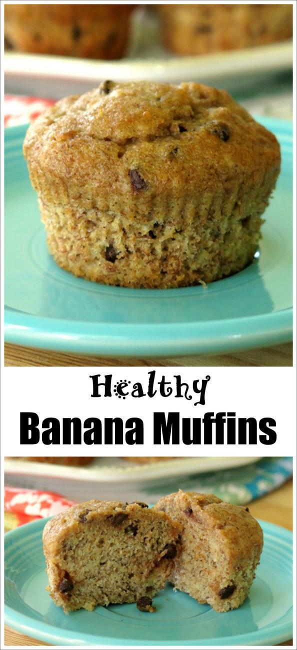 Healthy Banana Muffins Recipe